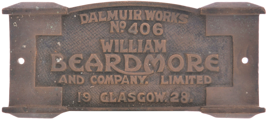 Beardmore works plate