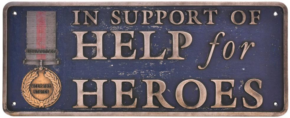 Help For Heros Nameplate