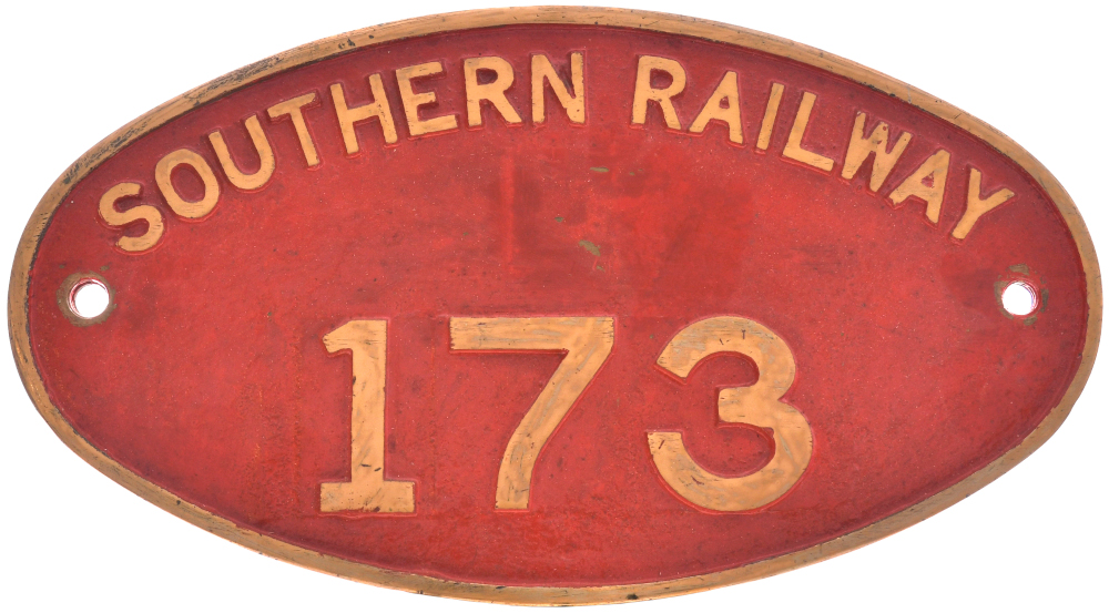 Cabside numberplate, Southern Railway 173