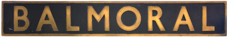 Balmoral Nameplate