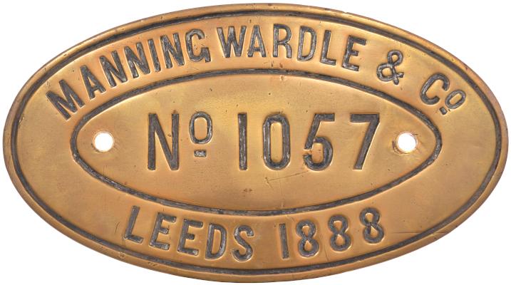 Manning Wardle worksplate 1057