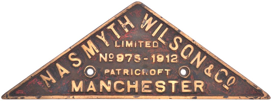 Nasmyth Wilson worksplate 976